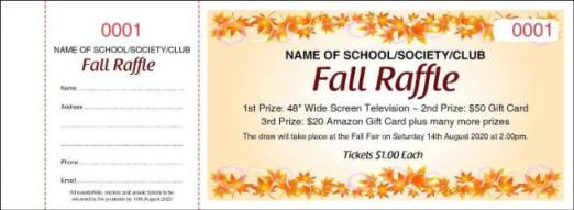 Fall Raffle Tickets